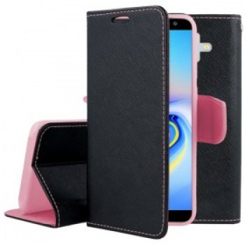 BOOK CASE FOR SAMSUNG GALAXY A7 2018 BLACK PINK