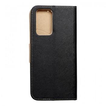 Fancy Book case for XIAOMI Redmi NOTE 10 PRO / 10 PRO MAX black / gold